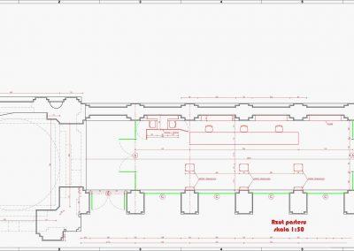 Rzut CAD krużganek